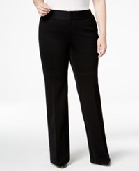 Inc International Concepts Plus Size Wide Leg Trousers Only At Macy's Black