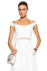 Nicholas Ponti Cross Front Off The Shoulder Top In White