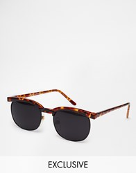 Reclaimed Vintage Clubmaster Sunglasses Brown