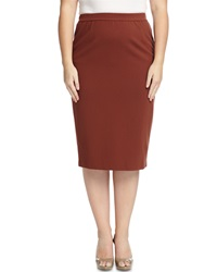 Lafayette 148 New York Ponte Long Pencil Skirt Russet