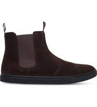 Kg By Kurt Geiger Bison Suede High Top Trainers Brown