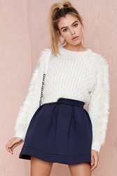 Nasty Gal Nicki Skater Skirt Navy