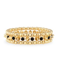 Jules Smith Designs Small Golden Spike Stretch Bracelet Black Jules Smith