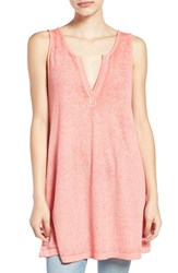 Bp Women's Project Social T Burnout Tunic Tank Coral Spice