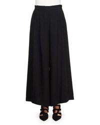 Proenza Schouler Pleated Front Wide Leg Palazzo Pants Black