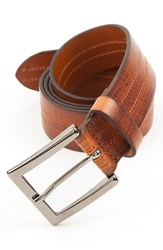 Men's Big And Tall Trafalgar 'Hayden' Leather Belt Tan