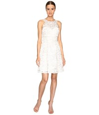 Marchesa Textured And Beaded Cocktail Dress Ivory Women's Dress White