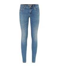 Burberry Brit Skinny Low Rise Vintage Wash Jeans Female