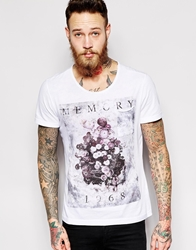 Sisley T Shirt With Floral Print White101