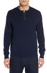 Nordstrom Men's Men's Shop Cashmere Henley Sweater Navy Charcoal