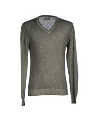 Fifty Four Knitwear Jumpers Men Military Green