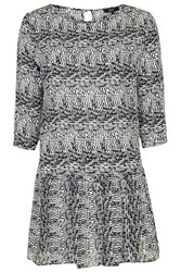 Shimmy Shake Print Shift Dress By Goldie Black