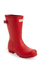 Women's Hunter Original Short Back Adjustable Rain Boot Military Red