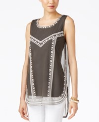 Alfani Petite Embroidered Tank Top Only At Macy's Urban Olive