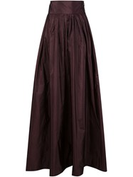 Rosie Assoulin Flared Long Skirt Pink And Purple