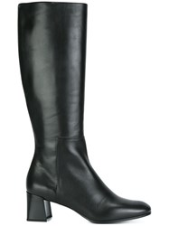 Jil Sander Knee Length Boots Black