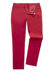 Gibson Slim Fit Casual Chino Burgundy