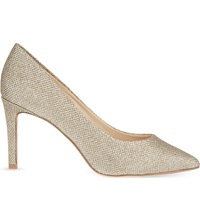 Nine West Charly Glitter Court Shoes Gold