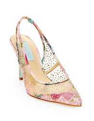 Betsey Johnson Quinn Mesh Slingback Pumps