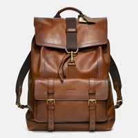 Coach Bleecker Backpack In Leather Fawn