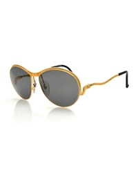 Christian Lacroix Vintage Snake Temple Sunglasses Gold