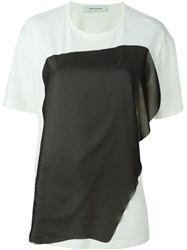 Cedric Charlier Layer Embroidered T Shirt White