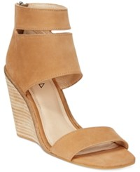 Kelsi Dagger Brooklyn Mackie Wedge Sandals Women's Shoes Mocha