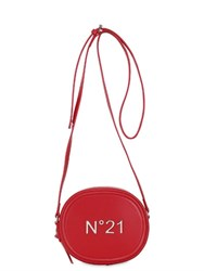 N 21 Logo Leather Zip Around Shoulder Bag