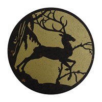 Avenida Home Deer Placemat Gold