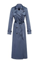 Hensely Long Trench Coat Blue