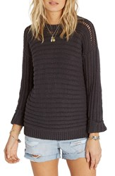 Billabong Women's Don't Look Back Mixed Stitch Pullover Off Black