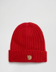 Fjall Raven Fjallraven Byron Wool Beanie In Red Red