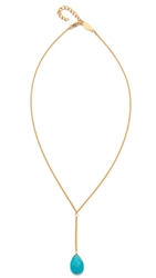 A.V. Max Turquoise Drop Necklace Turquoise Gold