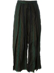 Lost And Found Accordion Pleat Cropped Trousers Multicolour