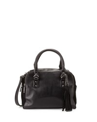 French Connection Jenny Faux Leather Satchel Black