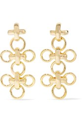 Giles And Brother Gold Plated Earrings Metallic