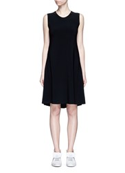 Norma Kamali Bonded Jersey Swing Dress Black
