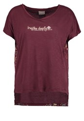 Vero Moda Vmria Print Tshirt Decadent Chocolate Dark Brown