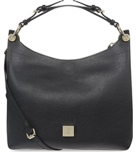 Mulberry Freya Small Leather Hobo Bag Black