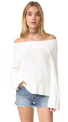 Free People Beachy Slouchy Pullover Sweater Ivory