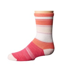 Smartwool Sulawesi Stripe Crew Bright Pink Women's Crew Cut Socks Shoes