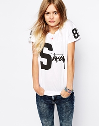 Stussy T Shirt With Varsity Number Print White