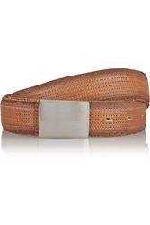 Isabel Marant Kitano Perforated Leather Belt Brown