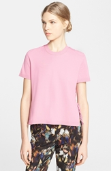 Valentino Lace Back Short Sleeve Tee Pink