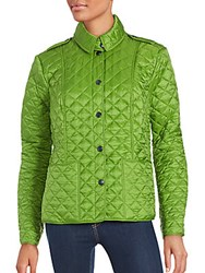 Burberry Long Sleeve Quilted Jacket Leaf Green