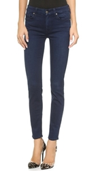 7 For All Mankind The Mid Rise Slim Illusion Luxe Skinny Jeans Slim Illusion Luxe Rich Blue
