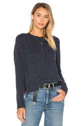 Autumn Cashmere Crew Neck Sweater Navy