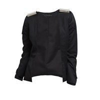 Too Damn Expensive Metal Detail Jacket Black