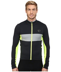 Pearl Izumi Elite Escape Thermal Long Sleeve Jersey Black Screaming Yellow Men's Clothing