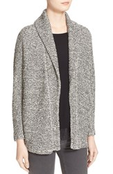 Women's Soft Joie 'Zaniah' Cotton Boucle Shawl Collar Cardigan Melange Caviar